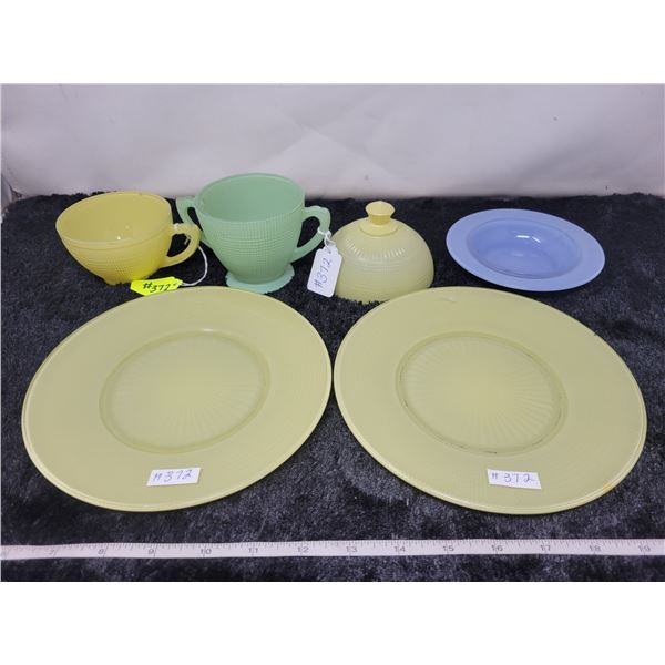 Lot of misc Saguenay, yellow, green and blue (6 pieces)