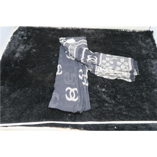 "Vintage Chanel rectangular scarf, 64'x 20"""