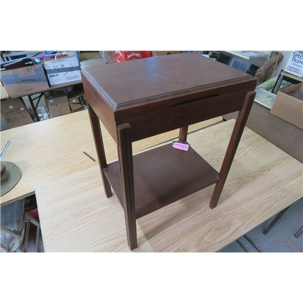 Wood flatware stand/side table