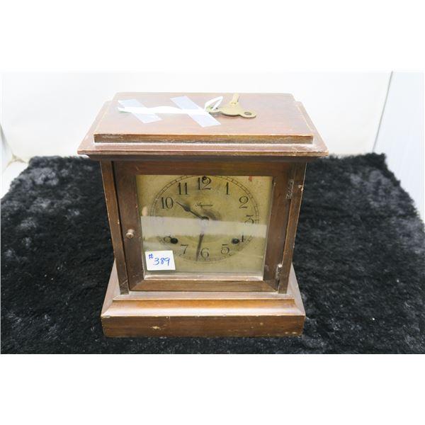 Asonia Mantle Clock, New York, with key