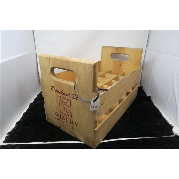 Wood wine box, Blanshard St. Victoria