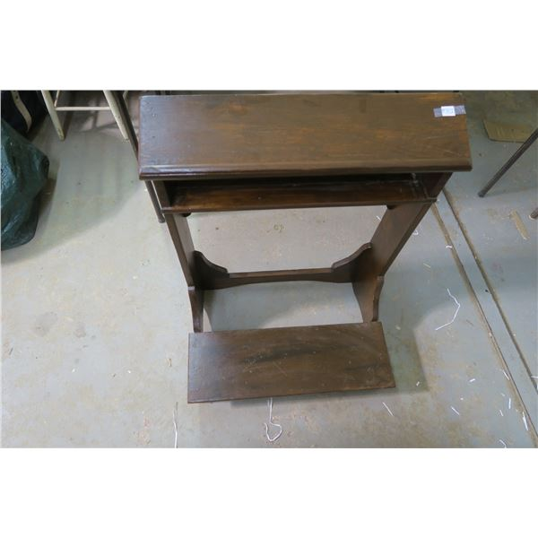 """Pres Dieu (kneeler) from the convent in Prince Albert 35"""" high, 19"""" deep, refinished"""