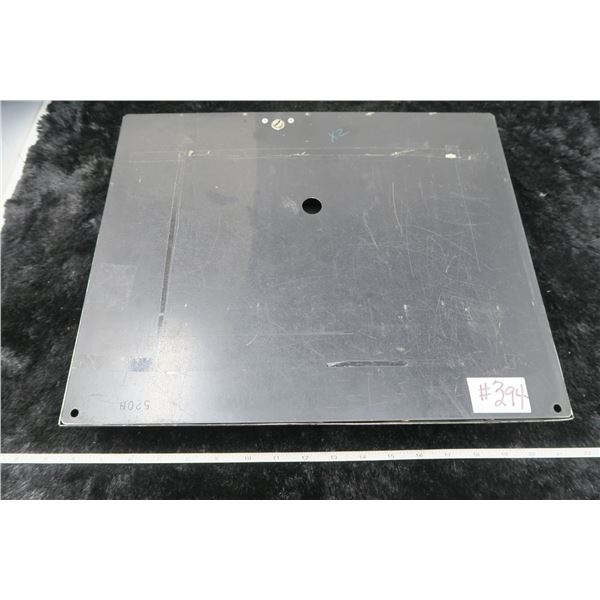Metal money register tray with lid