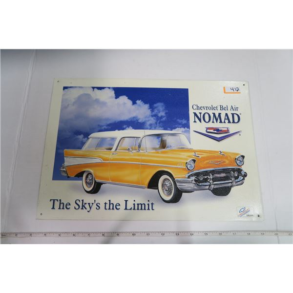 """Tin Sign 11X16 """"Chevy Bel Air Nomad"""""""