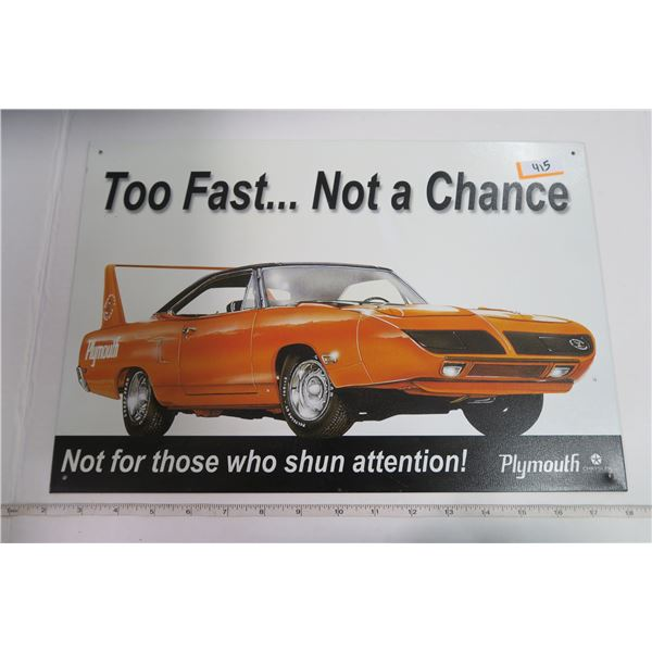 "Tin Sign 11X16 ""Plymouth Roadrunner"""