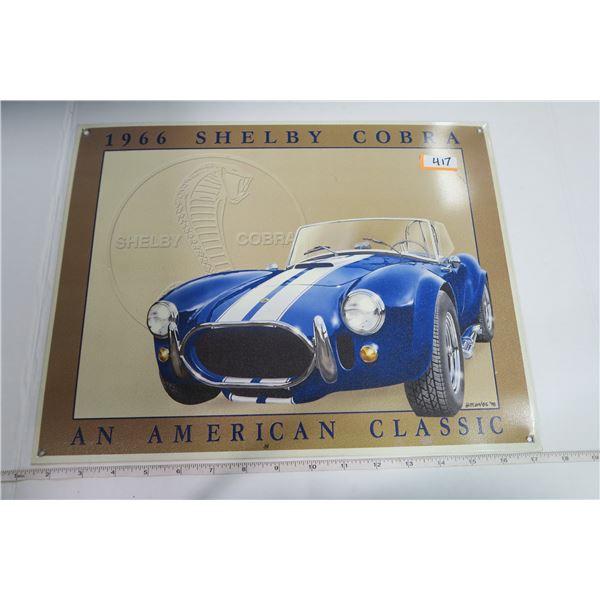 "Tin Sign 12X15 ""1966 Shelby Cobra"""