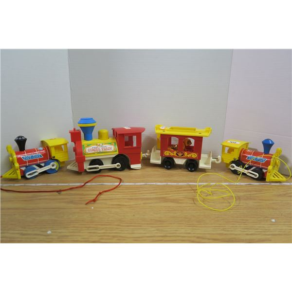 Fisher Price Circus Train + 2 other FP trains