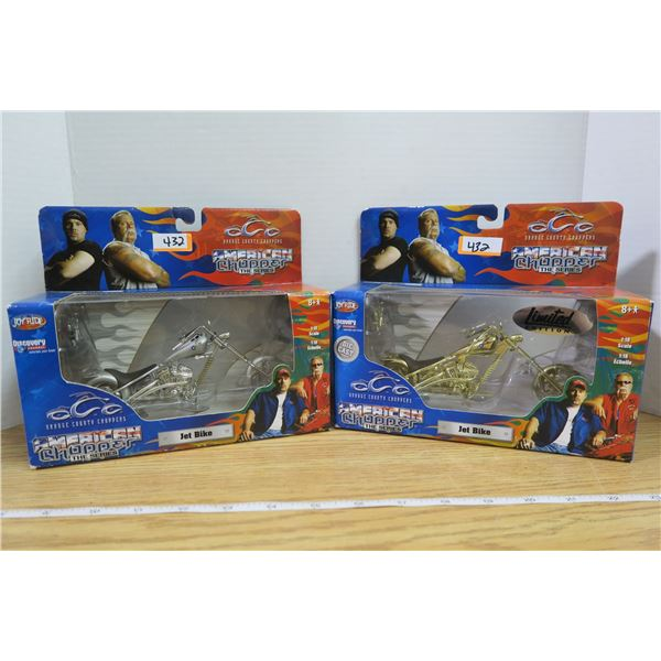 2 American Choppers Jet Bikes 1 limited edition