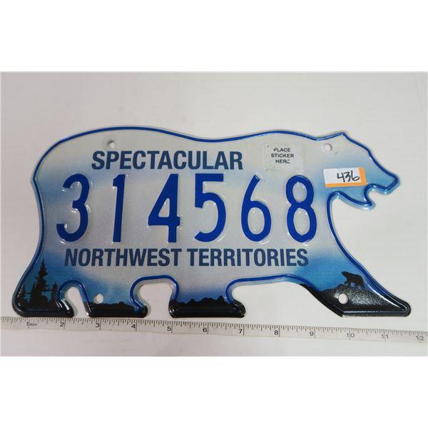 Northwest Territores Plate  314568
