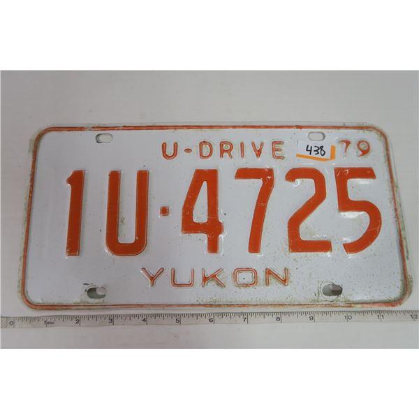1979 Yukon Plate 1U-4725