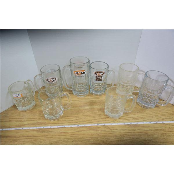 8 Assorted A&W Mugs
