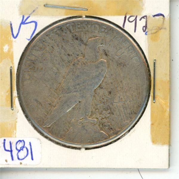 US 1922 1 Dollar Coin