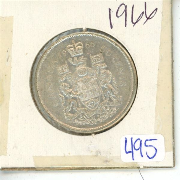 1966 Canadian 50 Cent Coin