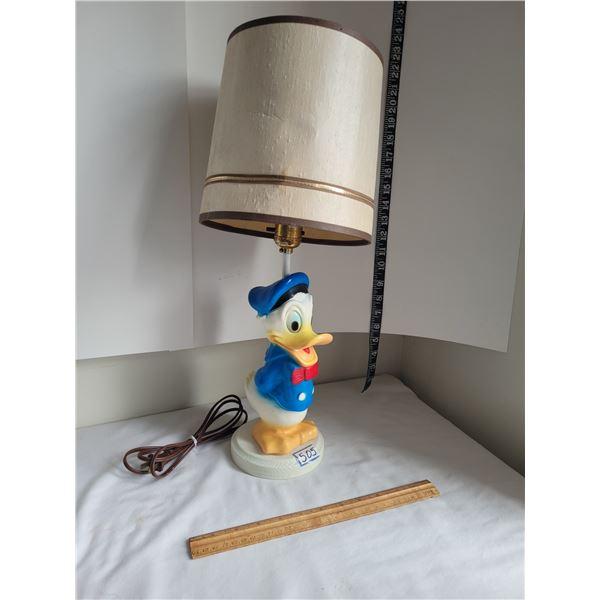 Vintage walt Disney Production Donald Duck lamp.