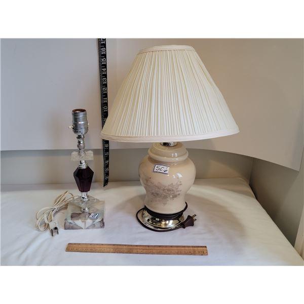 2 older bedroom lamps.