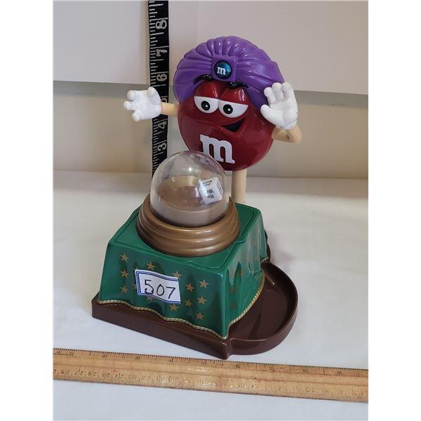 M&M novelty candy dispenser.