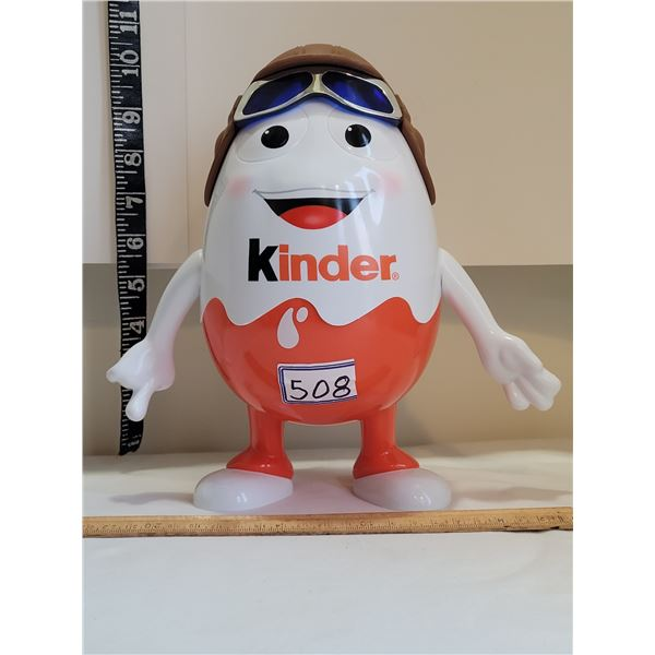 Kinder Egg man with movable arms.