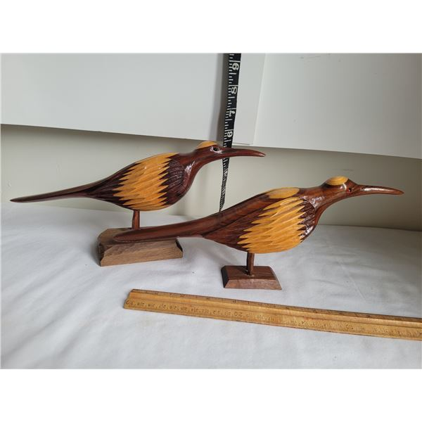 Hand carved birds