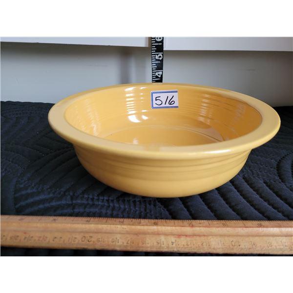 Rare vintage Fiestaware. Yellow 8 1/2 veg. Nappy bowl