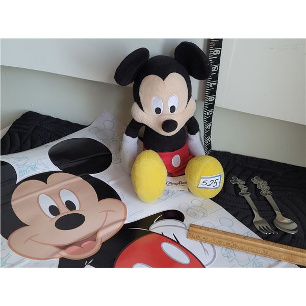 Authentic Disney Mickey mouse, Wall sticker, fork & spoon.