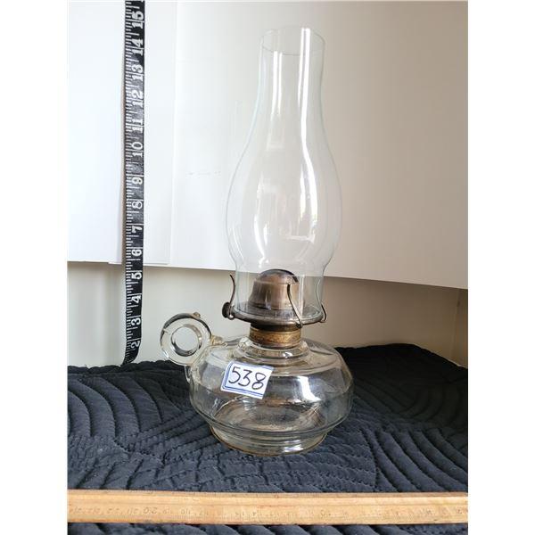 Early century finger oil lamp.