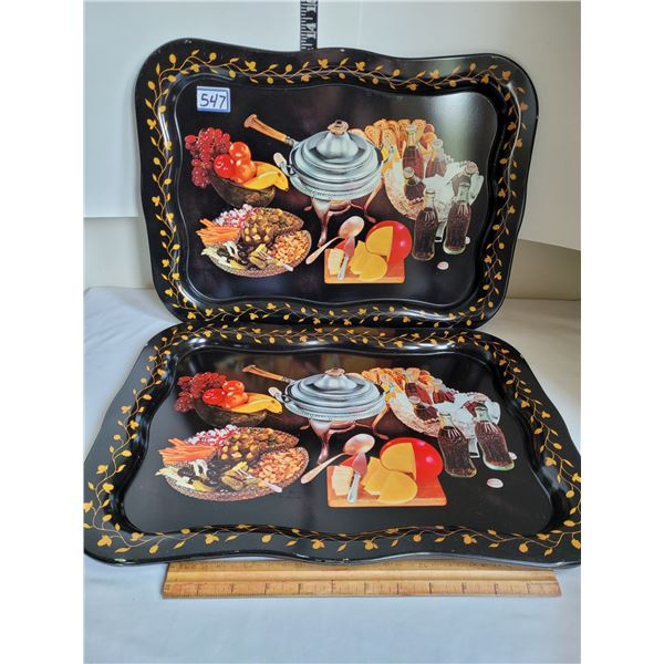 Set of 2 old mid century Coca-Cola serving/bed trays.