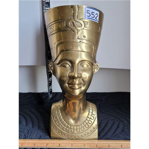 Brass Egyptian bust.