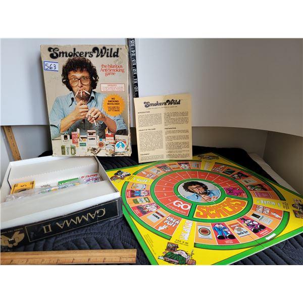 Vintage Smoker's Wild board game.