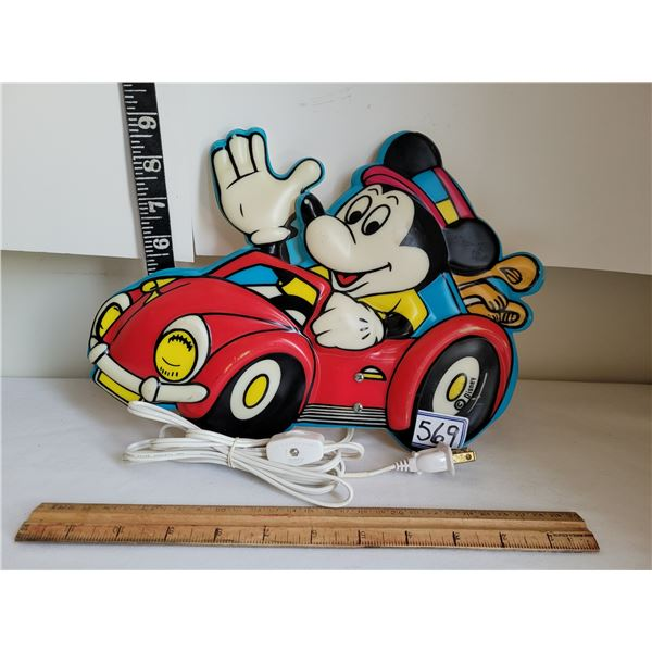 Vintage Mickey Mouse wall mount night light.