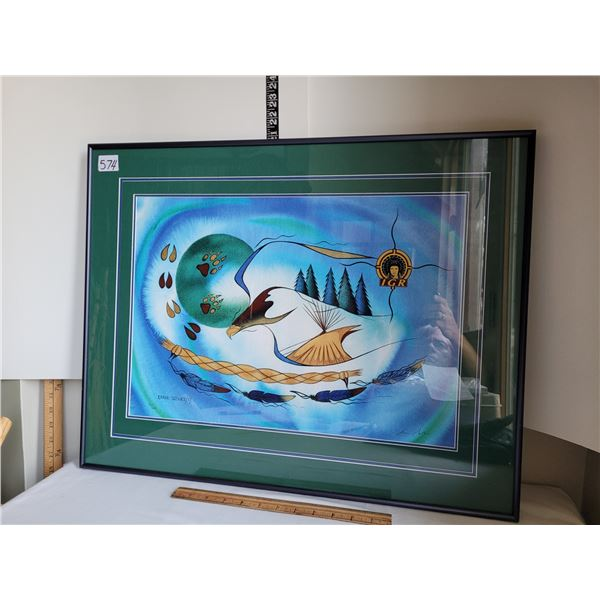 Framed & signed print by Ernie Scoles. # 70 of 200    See info