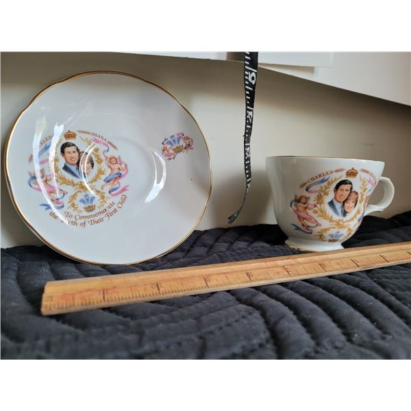 Collector cup & saucer commemorating  of Prince William.
