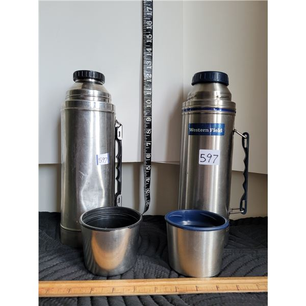 2 vintage thermos. Stainless steel