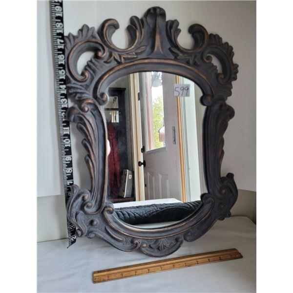 Antique style hall mirror.
