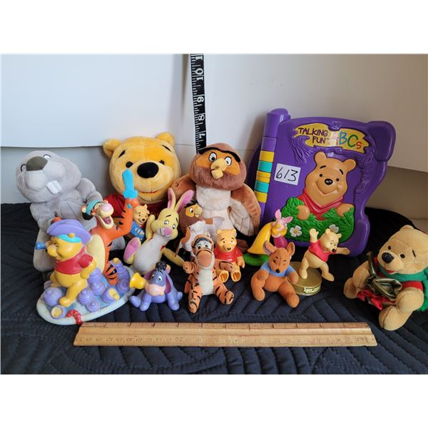 Winnie the Pooh talking electronic learning. Puppet, book & characters.