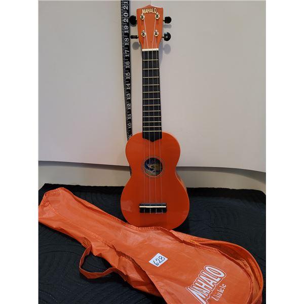 Very nice Mahalo ukulele with carry case.