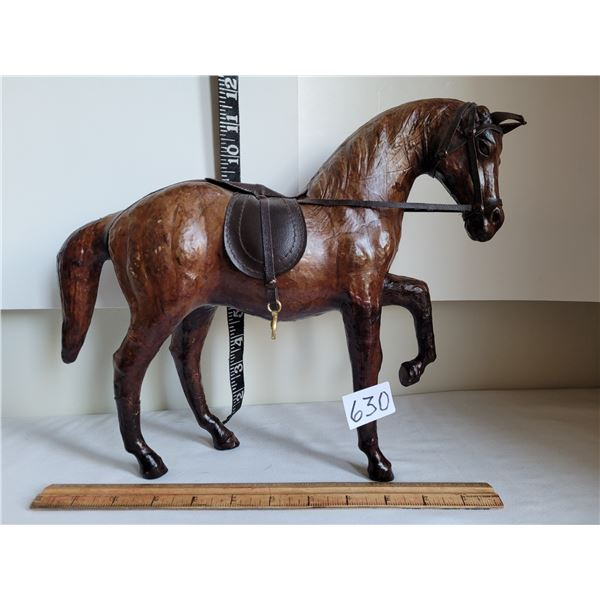 Mid Century horse made from soft leather.