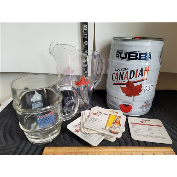 Lot of Molson Canadian bar products