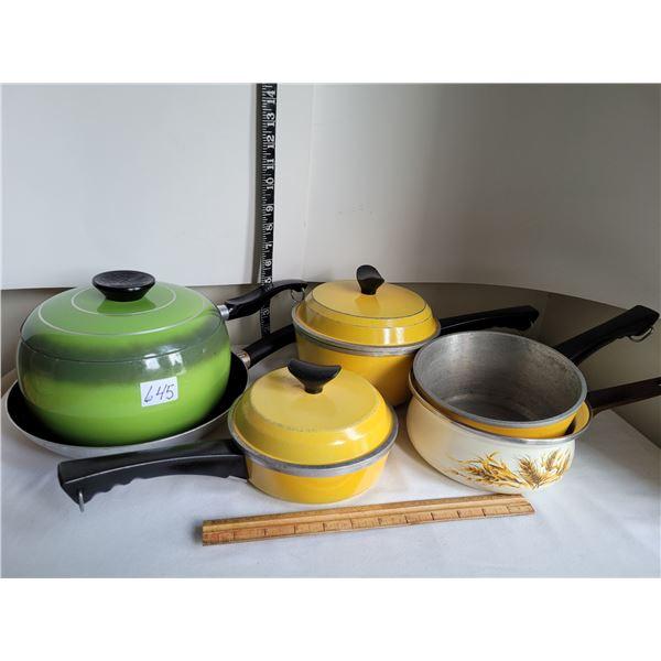 1970's cooking pots