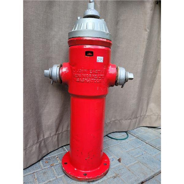Vintage fire hydrant. John East Iron Works Ltd. Saskatoon.