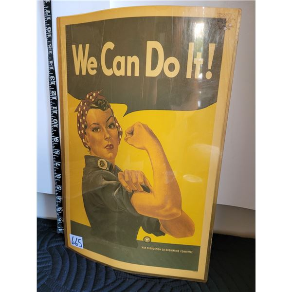 WE CAN DO IT WWII effort & women empowerment poster.