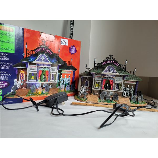 Lemax Spooky Town Halloween decor. Lights up, music & talking with volume control.