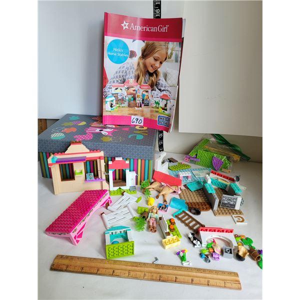 American Girl Mega Blocks kit. Nicki's Horse Stable.