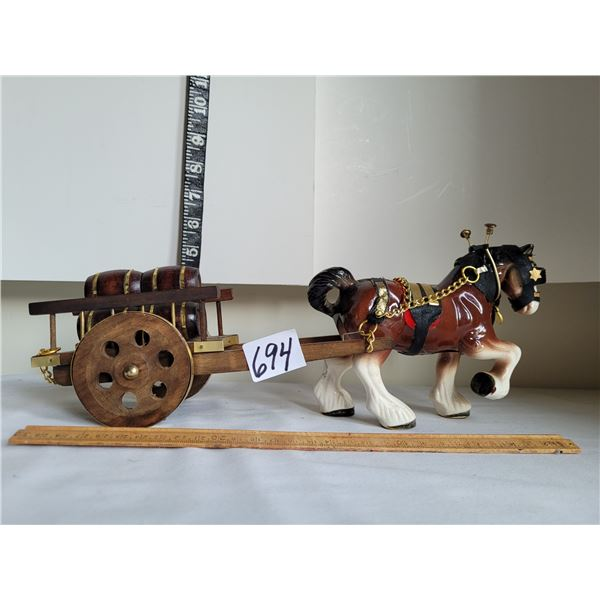 Vintage horse and cart home decor.