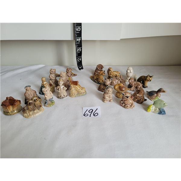 Lot of 24 wade figurines. 10 nursery & 14 animals.