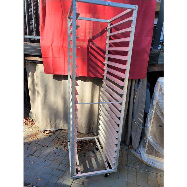 Rolling tray holder. 24 slides