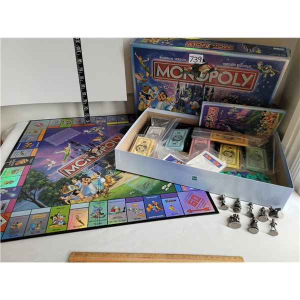 Disney Monopoly, bilingual, complete with metal disney characters.