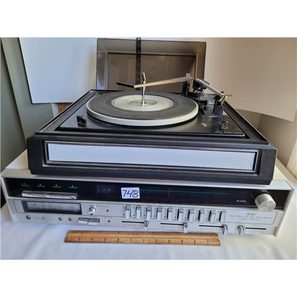 Sears Solid State radio receiver, 8-track, turn table, made in Japan. 160 Watt, 8 ohm