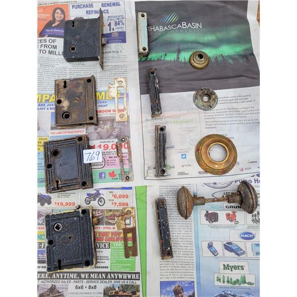 Antique Corbin & Gurney locks & hardware.