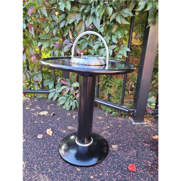 Vintage metal smoke stand (repainted) very nice
