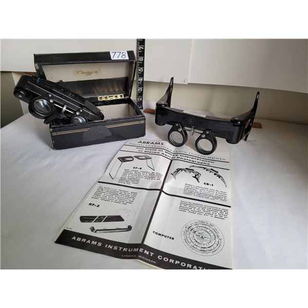Abrams Stereoscope Magnifiers.